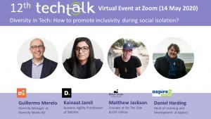 TechTalk #12 – Diversity in Tech – 16 Apr 2020