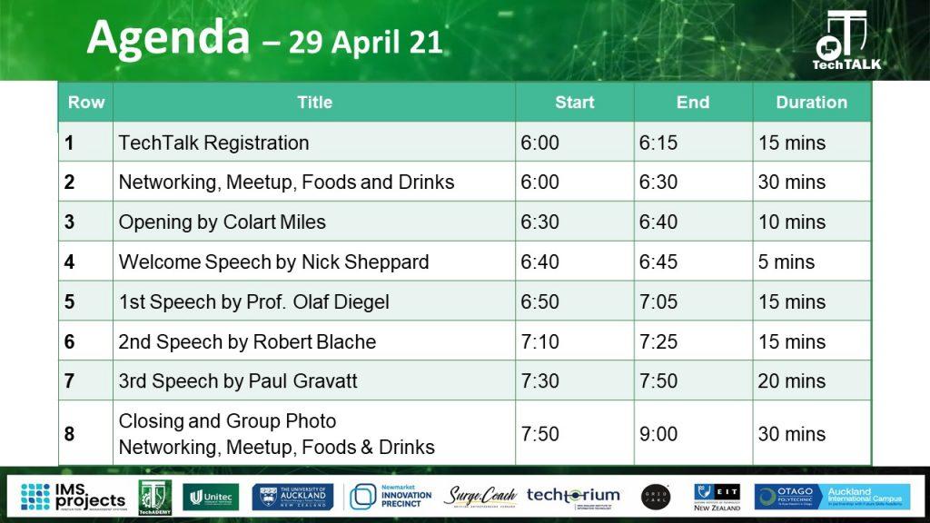 TechTalk#15 Agenda