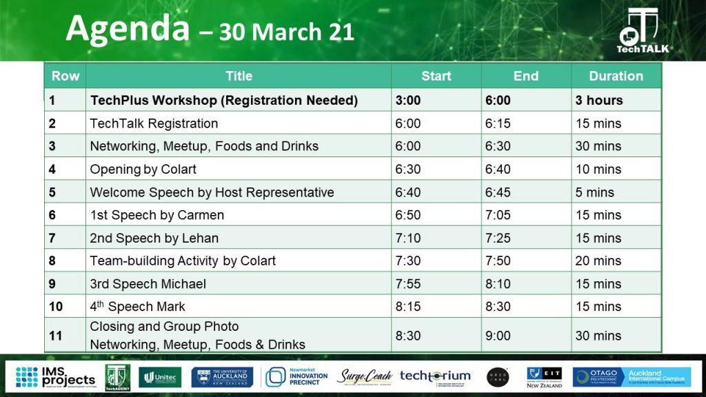 TechTalk #14 Agenda