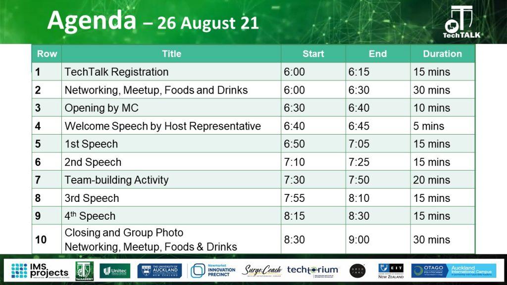 TechTalk #17 Agenda